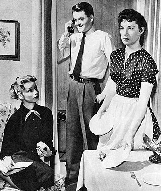 The Brighter Day - Three of the Dennis children, 1954.  From left: Babby (Mary Linn Beller), Grayling (Hal Holbrook), and Patsy (Lois Nettleton).