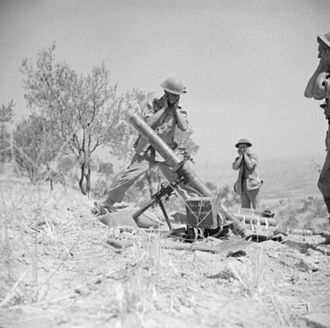 ML 4.2-inch mortar - Image: The British Army in Sicily 1943 NA5666