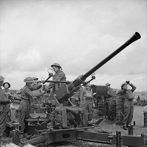 29th (East Anglian) Anti-Aircraft Brigade - 40 mm Bofors gun, 1941