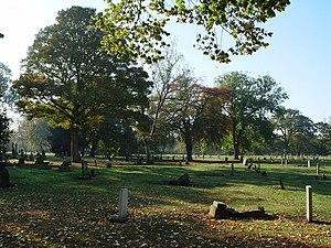 Hull General Cemetery - Far western end of Western Cemetery (2007)