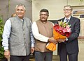 The Co-Chairman of the Bill & Melinda Gates Foundation, Mr. Bill Gates meeting the Union Minister for Electronics & Information Technology and Law & Justice, Shri Ravi Shankar Prasad, in New Delhi.jpg