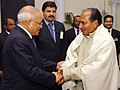 The Defence Minister, Shri A. K. Antony meeting with the President of Maldives, Mr. Maumoon Abdul Gayoom, in New Delhi on February 07, 2008.jpg