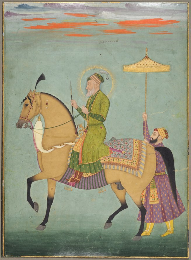 The Emperor Aurangzeb on Horseback ca. 1690%E2%80%931710 The Cleveland Museum of Art