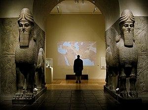 Ashurnasirpal II - Pair of Lamassus, Nimrud, (Metropolitan Museum of Art)