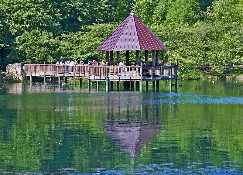 File The Gazebo On Lake Caroline Meadowlark Botanical Gardens Vienna Va May 2012