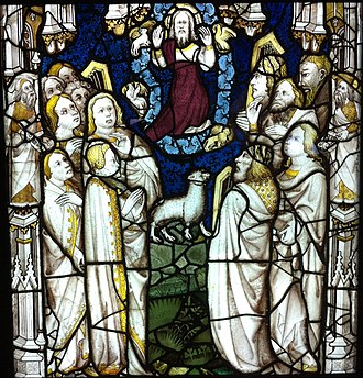 John Thornton (glass painter) - Image: The Lamb on Mount Zion and the Redeemed