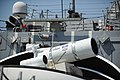 The Laser Weapon System (LaWS) is temporarily installed aboard USS Dewey. (8635970572).jpg