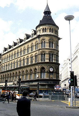 The Grade II listed Mappin & Webb building was controversially demolished in 1994 to make way for No 1 Poultry, which was itself listed in 2016 The Mappin and Webb building, London (as was) - geograph.org.uk - 1229496.jpg