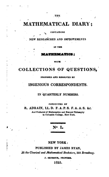 File:The Mathematical Diary first issue title page.png