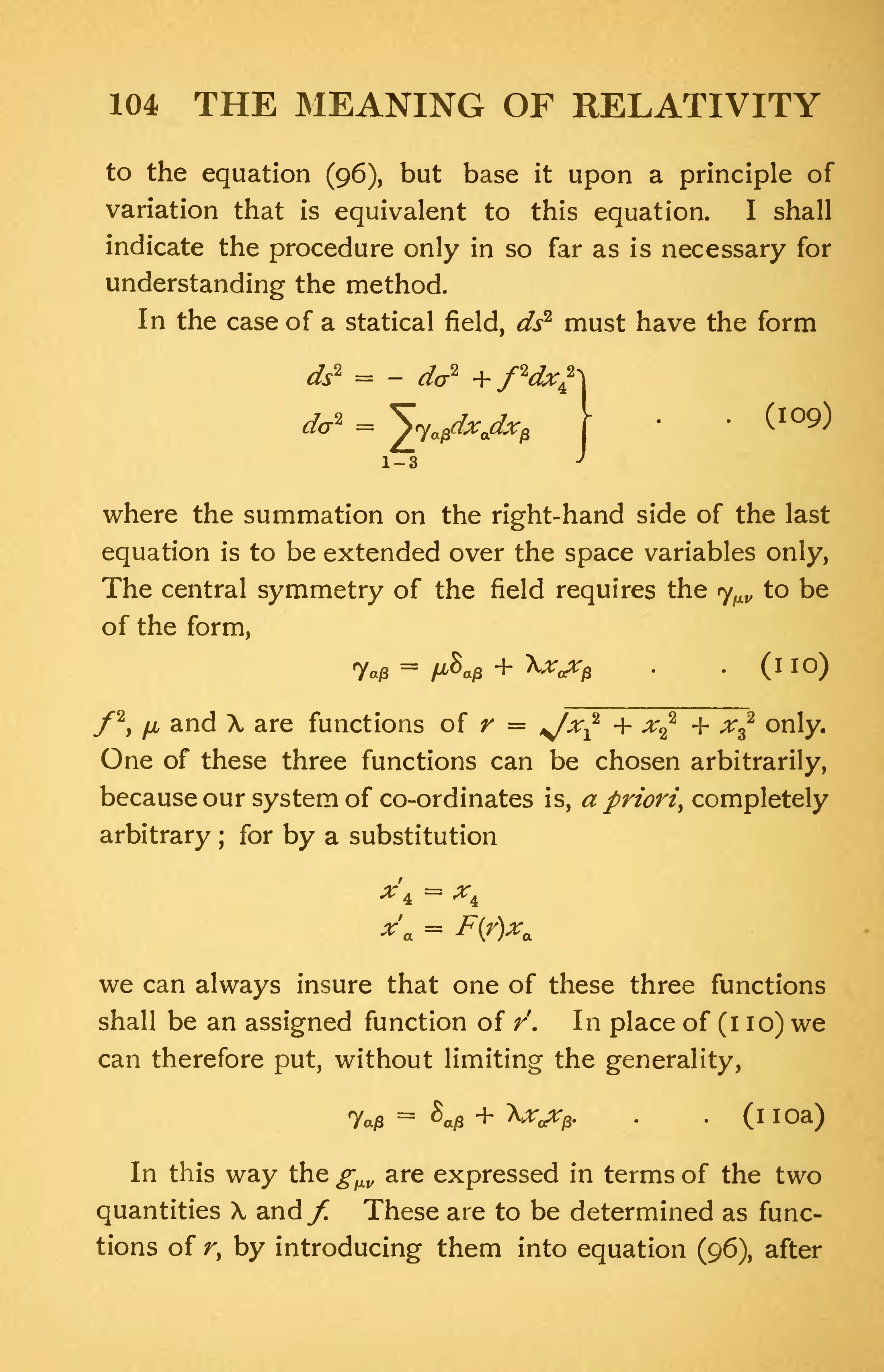 Page:The Meaning of Relativity - Albert Einstein (1922) djvu/116