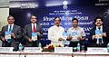 """The Minister of State for Culture (Independent Charge), Tourism (Independent Charge) and Civil Aviation, Dr. Mahesh Sharma releasing the """"Discover India"""" fares of Air India & other Airlines.jpg"""