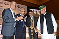 The Minister of State for Finance and Corporate Affairs, Shri Arjun Ram Meghwal lighting the lamp to inaugurate the 185th Annual General Meeting of Calcutta Chamber of Commerce and Interactive Session on GST, in Kolkata.jpg