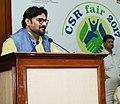 The Minister of State for Heavy Industries & Public Enterprises, Shri Babul Supriyo addressing at the inauguration of the CSR Fair 2017, at Pragati Maidan, in New Delhi on May 04, 2017.jpg
