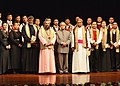 The President, Shri Pranab Mukherjee with the organizer and artists after witnessing a performance by the 'Ao Naga Choir' at Rashtrapati Bhavan, in New Delhi on December 15, 2012.jpg