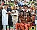 The President, Shri Ram Nath Kovind and the Prime Minister, Shri Narendra Modi at the Dussehra celebrations at Madhav Das Park, Red Fort, on the auspicious occasion of Vijay Dashmi, in Delhi on September 30, 2017.jpg