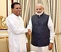 The President of the Democratic Socialist Republic of Sri Lanka, Mr. Maithripala Sirisena meeting the Prime Minister, Shri Narendra Modi, at Hyderabad House, in New Delhi on May 13, 2016 (2).jpg