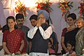 The Prime Minister, Dr. Manmohan Singh participating in the Dussehra celebrations at Ramleela Maidan on the auspicious occasion of Vijay Dashmi, in New Delhi on October 21, 2007.jpg