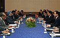 The Prime Minister, Dr. Manmohan Singh with the President of the People's Republic of China, Mr. Hu Jintao at a meeting during the G-8 Summit at Sapporo, in Japan on July 08, 2008.jpg