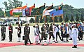 The Prime Minister, Shri Narendra Modi inspecting the Guard of Honour, during his Ceremonial Welcome, at Hazrat Shahjalal Airport, Dhaka on June 06, 2015 (1).jpg