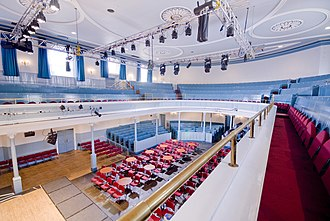 Queen's Hall, Edinburgh - The inside of the auditorium of The Queen's Hall, Edinburgh