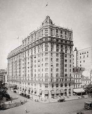1111 Pennsylvania Avenue - The Raleigh Hotel in 1920.