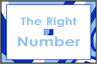 The Right Number - Title card