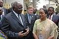 The Speaker, Lok Sabha, Smt. Meira Kumar with the President of Kenya, Mr. Mwai Kibaki during the 56th Conference of Commonwealth Parliamentary Association, in Nairobi, Kenya, on September 14, 2010.jpg