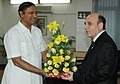 The Union Minister of Shipping, Road Transport and Highways, Shri T.R.Baalu meeting with Mr. Shaul Mofaz, Deputy Prime Minister and Minister of Transport of Israel, in New Delhi on March 21, 2007.jpg