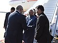 The Vice President, Shri M. Hamid Ansari being received by the Prime Minister of Morocco, Mr. Abdelilah Benkirane on his arrival, at Sale International Airport, in Rabat, Morocco on May 30, 2016.jpg