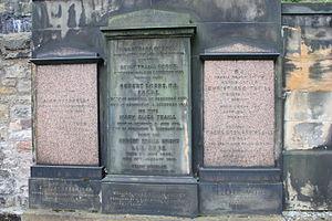 Thomas Stewart Traill - The grave of Thomas Stewart Traill, St Cuthbert's churchyard, Edinburgh