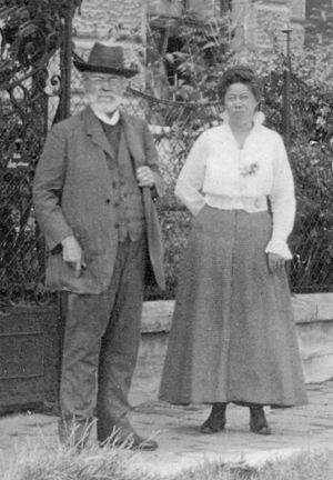 Theodor Helm - Theodor Helm and Daughter Mathilda in Salzburg, Austria around 1910