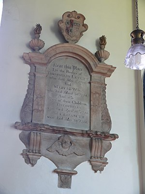 Theophilus Levett - Alabaster monument to Theophilus and Mary Levett, St Giles Church, Whittington, Staffordshire