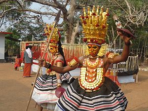 Folklore of India - Thirayattam- (Karumakan Vallattu)