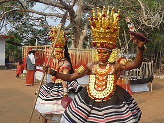 Folklore of India - Thirayattam- (Karumakan Vallattu)