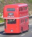 Thisbus.com Routemaster bus RML2408 (JJD 408D), M25 motorway, Surrey, 29 May 2011.jpg