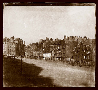 The Private Memoirs and Confessions of a Justified Sinner - Early photograph of Grassmarket, one of the locations in Confessions, taken around 28 years after publication of the novel.