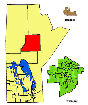 Thompson (electoral district) - Image: Thompson ED2011
