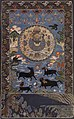Tibetan or Chinese origin, 18th century embroidery Tibetan Buddhist art of Cosmic Mount Meru.jpg