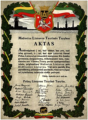 Lithuania Minor - Act of Tilsit