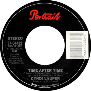Time After Time (Cyndi Lauper song) 1984 single by Cyndi Lauper