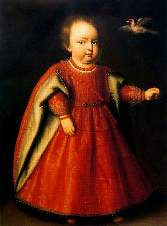 Taddeo Barberini - Camilla Barberini as a child, shortly before her death; painted by Tiberio Tito.