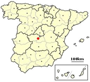 Mozarabic chant - Location of Toledo in modern Spain