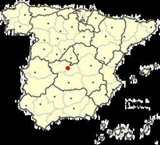 Mozarabic chant - Location of Toledo in modern Spain