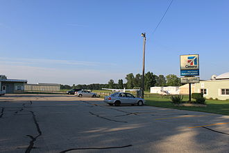 Toledo Suburban Airport - Airport entrance, Section Rd.