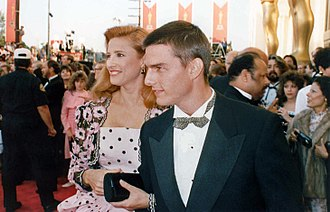 Mimi Rogers - Rogers with Tom Cruise at the 1989 Academy Awards
