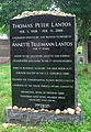Tom Lantos grave, Congressional Cemetery, Washington, D.C..JPG