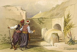 "Joseph's Tomb - ""Tomb of Joseph at Shechem"", by David Roberts 1839"