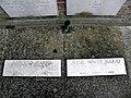 Tomba di Alberto e Jessie White Mario, lapidi, cimitero comunale (Lendinara).JPG