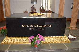 Marie of the Incarnation (Ursuline) - Marie de l'Incarnation's coffin