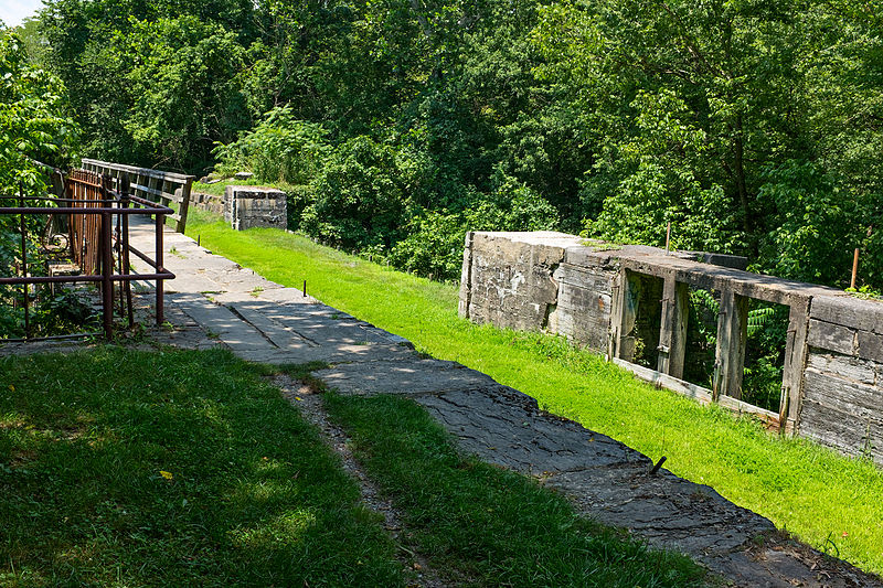 Tonoloway Creek Aqueduct and waste weir from downstream side on Chesapeake and Ohio Canal.jpg